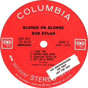 Blonde on Blonde Labelography (and Price Guide)