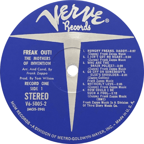 Freak Out! Labelography (and Price Guide)
